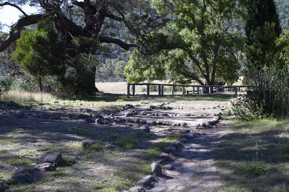Rocks show plan of original homestead