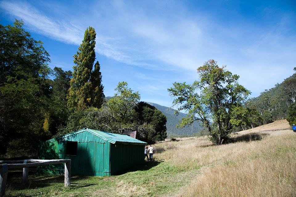 Arrival at Wonnangatta Hut
