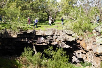 Huge open area above caves