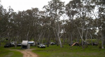 The campsite beside the Wannon River